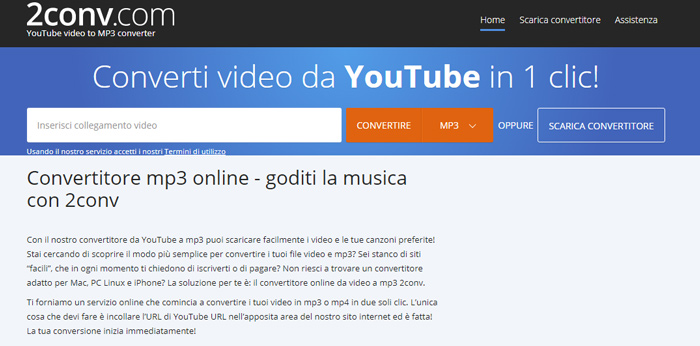 convertitore da youtube a mp3 free